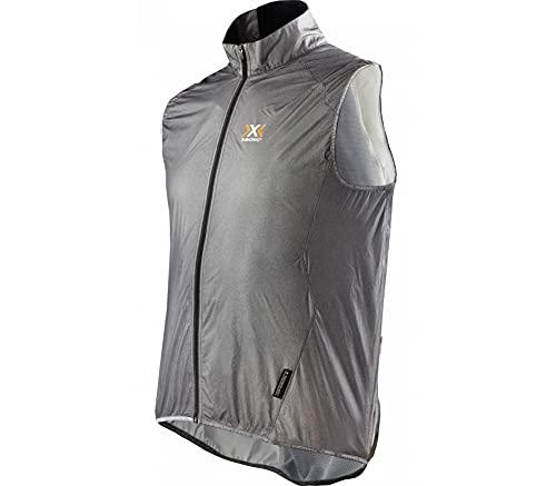 X-Bionic Men Streamlite Veste Vêtements De Course Vest Grey - Black S