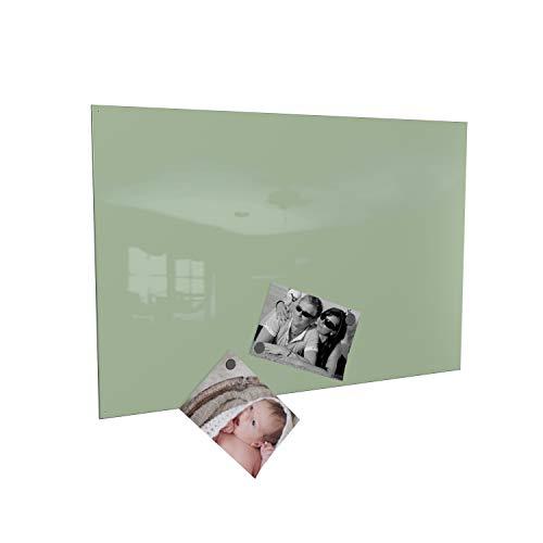 Colours-Manufaktur Magnettafel inkl. Magnete - in 4 Verschiedene Größen und 18 (Mint, 60 x 90 cm)