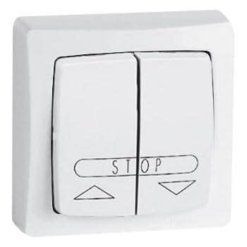 LEGRAND Interrupteur volet roulant appareillage saillie complet blanc  86013