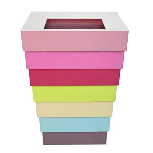 Kreative zusammenklappbare Papierkorb Startseite Wohnzimmer Schlafzimmer Papierkorb Personality Einfaches Büro Lagerung Eimer Schwarzweiß-Mülleimer (Farbe: B) 1yess (Color : A)