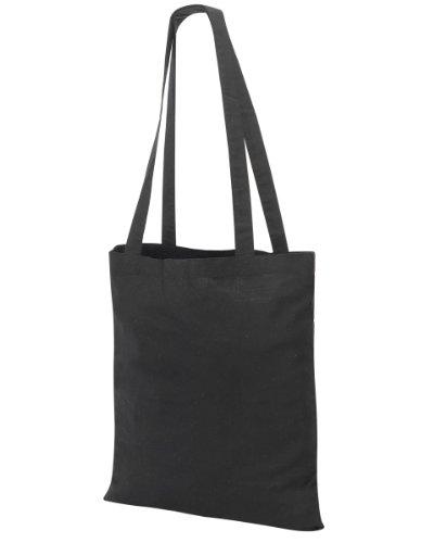Shugon, borsa per la spesa Guildford in cotone, a tracolla, con manico lungo 80cm Black Taglia unica
