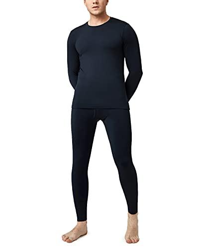 LAPASA Set de Ropa Térmica para Hombre. -Brushed Back Fabric Technique- M11 (S (Detalle en descripción), Navy Blue (Azul Marino))