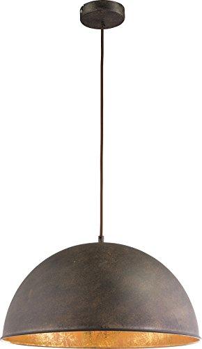 Lámpara de techo vintage de 1 foco, lámpara de techo colgante de comedor de colores oxidados (lámpara de techo industrial, lámpara de cocina, 41 cm, altura 120 cm)