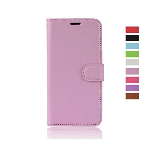 cookaR ZTE Axon 10 Pro 5G Handy Hülle Tasche Flip Hülle Kredit Karten Fach Geldklammer Leder Handy Schutzhülle Unsichtbar Magnet Verschluss Standfunktion,Pink