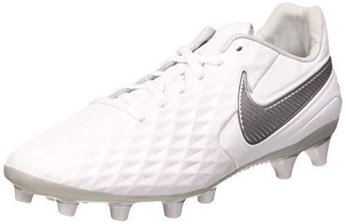 Nike Legend 8 AG-PRO, Scarpe da Calcio Uomo, White/Chrome-Metallic Silver, 40.5 EU