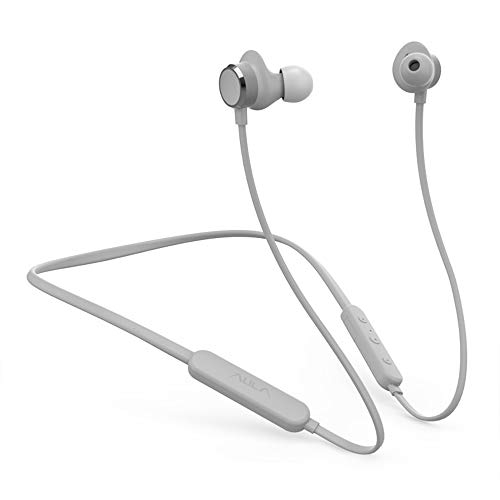 Aula Wireless Earbud Headphones,Bluetooth 5.0, Magnetic in-Ear Earbuds, w/Mic,Noise Reduction, HiFi Stereo,Ergonomic, for Sport,Work,Travel,Home,Music,Game,Workouts,Running,Gym (Gray)