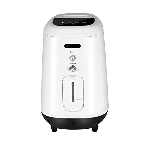 Vogvigo Máquina de oxígeno portátil,1-6L/min Concentrador de Oxígeno Ajustable 90% Alta concentración Purificador de Aire Doméstico,Adecuado para el hogar y los viajes