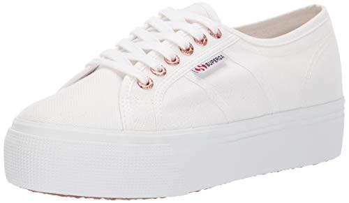 Superga womens 2790 Acotw Platform Fashion Sneaker, White/Rose, 6.5 US