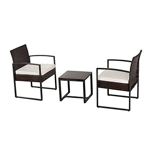 lemeibaihuo Zis - 1 juego de sillas plegables de ratán con mesa de camping y sillas de camping plegables para exteriores, muebles para el hogar (color A4)
