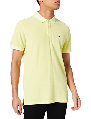 Tommy Jeans Tjm Garment Dye Polo, Lime Sbiadito, L Uomo