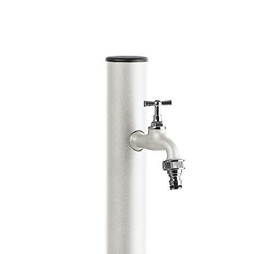 S&M Loop Colonne d'eau de jardin avec support pour robinet Aquapoint Blanc