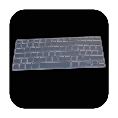 Silicone Soft Color French Uk/Eu Azerty Keyboard Clavier Cover Skin For Mac Book Pro Macbook Air 13' 15' 17' Air 13 before 2018-transparent-