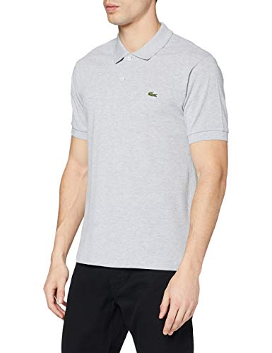 Lacoste Mens L1264 Polo Shirt Grey Argent Chine Medium Manufacturer size 4