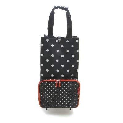 [ライゼンタール] 水玉柄 折り畳み式 スーツケース (ブラック) レディース r608-0011-8764-a4 [並行輸入品]