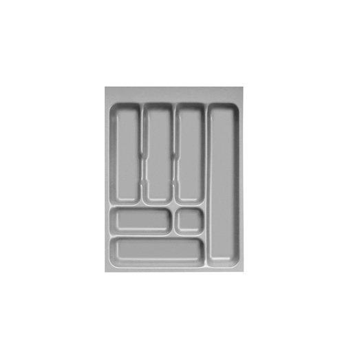 Range couverts 46 met en œuvre et Insert pour herbe (système à compartiments-Dimensions du plateau : 36 cm-Largeur : 48 cm-Longueur 7 Sections de séparation