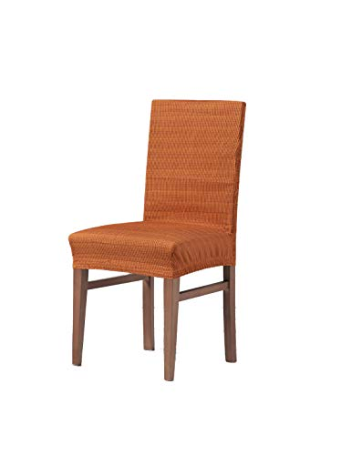 Zebra Textil Vega Elastische Stuhl-Husse, Orange, Rückenlehne