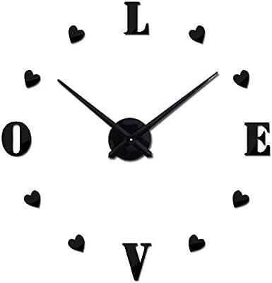 Morrenz - Wall Clock reloj de pared Quartz Watch Europe horloge Home Living Room 3D Acrylic