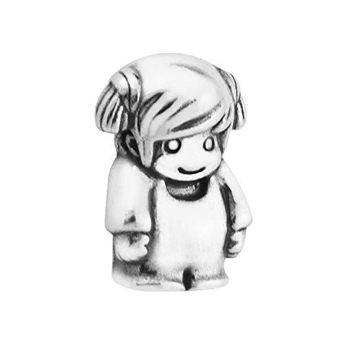 pandora 925 colgante de plata de ley DIY pcs lote muchacha pequeño encantos decorativos paquete de cuentas adecuado encanto flotante collar de la joyería de las mujeres