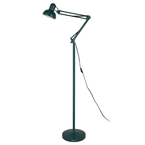 ZCYY Lámpara de pie, Lámpara de pie, Escritorio Cabeza Ajustable Luz de Piso Regulable 360 Grados Brazo oscilante Lámpara de pie de Escritorio Base de Metal para Oficina, Dormitorio,