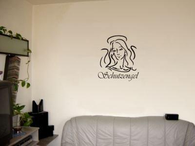 Wandtattoo / Wandaufkleber Schutzengel; Farbe Grau
