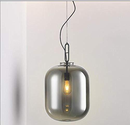 Moderne creatieve individuele hoofdverlichting van de glasmeloen woonkamer eetkamer slaapkamer café raamdecoratie rookgrijs 24 cm h 27,5 cm