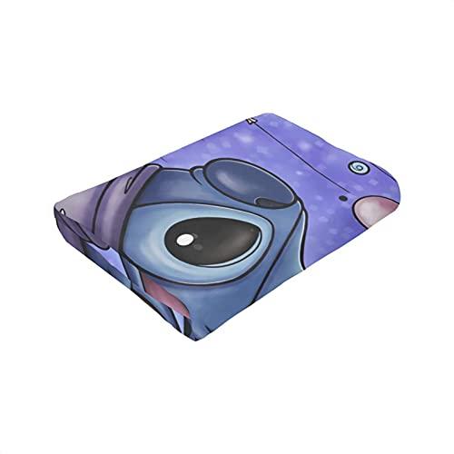 Lilo - Manta para dormir con diseño de dibujos animados para dormir o dormir en la rodilla de la oficina, suave y cómoda manta para la siesta de 127 x 101 cm