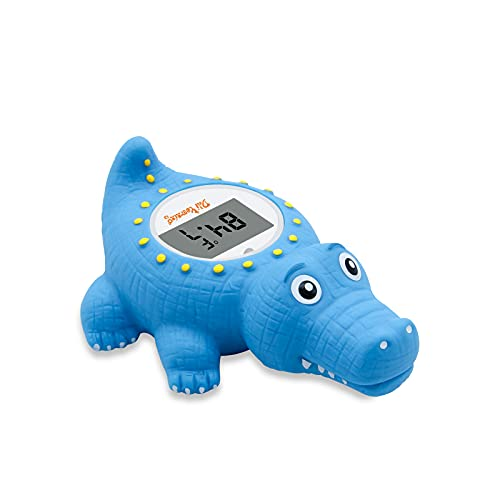 Doli Yearning Baby Bath Thermometer with Room Temperature| Fahrenheit and Celsius| Blue Alligator Lovely Shape|Kids' Bathroom Safety Products|Bath Toy…