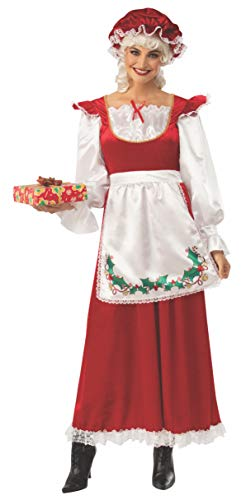 Rubie's Women's Ms. Santa Claus Costume Dress and Hat, As Shown, Small