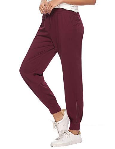 Aibrou Jogginghose Damen Sporthose Freizeithose High Waist Sports Pants Trainingshose für Fitness, Running, Yoga, Wandern, Gym, Tanzen