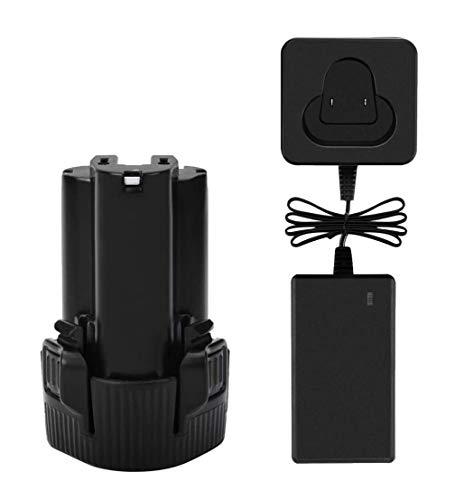 Exmate Batería con cargador AC10.8 V 2,5 Ah para Makita BL1013 BL1014 DF030D DF330D LCT203W 194550-6 194551-4 195332-9