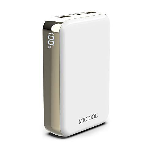 モバイルバッテリー 20000mah 大容量 軽量 小型 急速充電 2in1入力Type-C/Micro USB入力ポート2.1A出力 2USBポート 携帯充電器 スマホバッテリー PSE認証済MRCOOL iPhone/Xperia/Android各種対応… (ホワイト)