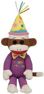 Ty Beanie Baby Happy Birthday Sock Monkey Plush