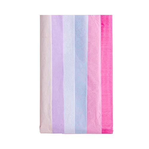 RUSPEPA Papel De Regalo Para Papel De Seda - Papel De Seda De Color Para Manualidades De Bricolaje, Bolsas De Paquetes - 50 X 66 CM - 12 Hojas