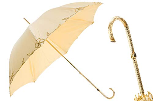 Best Bargain Pasotti 177 Plat-300 P5 - Ivory Woman's Decorated Umbrella (Background Image in The Hom...
