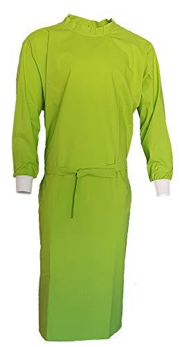 Grevotex OP-Kittel OP-Mantel Schutzkittel Schutzmantel apfelgrün wiederverwendbar (L)