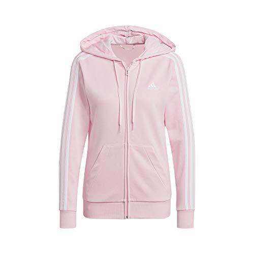 adidas Damen W 3S FT FZ HD Kapuzenschiene oben, clear pink/white, M