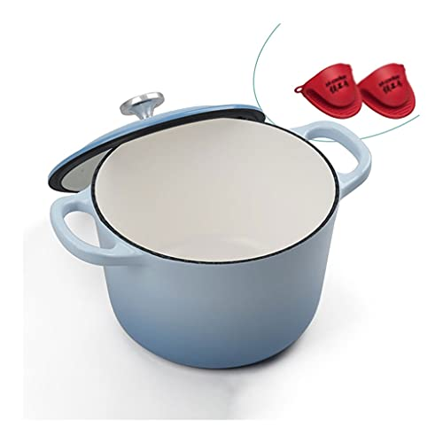 Horno Holandés La mejor opción Producido de producto Púrpura Esmalte de profundización de la olla de cerámica de cerámica antiadherente Hierro fundido Holanda Horno Holandero Compatible Horno Lado MAN