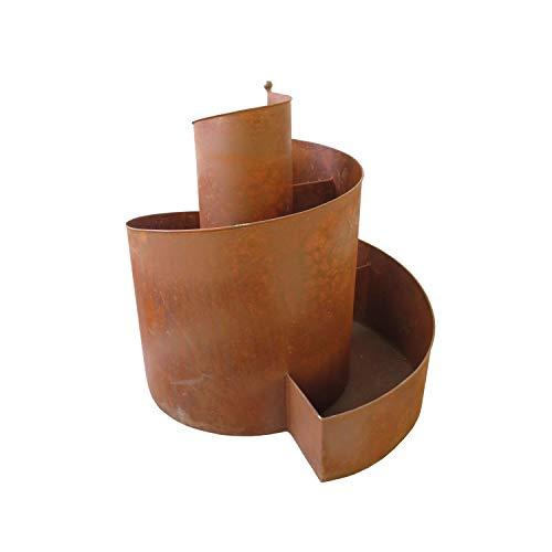 HTI-Line Kräuterspirale Verena Deko Rost Metall Kräutertreppe Edelrost-Optik Kräuterschnecke Kräuterspirale