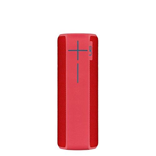 Ultimate Ears Boom 2 Tragbarer Bluetooth-Lautsprecher, 360° Sound, Wasserdicht und Stoßfest, App-Navigation, Kann mit weiteren Lautsprechern verbunden werden, 15-Stunden Akkulaufzeit - pink/rot