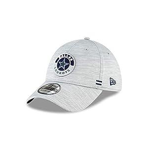 NFL Dallas Cowboys Mens New Era Official 2020 Sideline 3930 Hat, Gray, Medium/Large