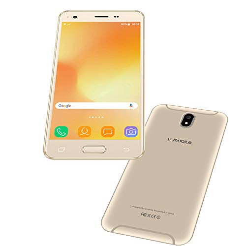 teléfono móvil Android 7.0V · Mobile J5teléfonos Ofertas 3GB RAM 32GB ROM 5.5Pulgadas HD 3G teléfono móvil Quad Core 5MP cámara Smartphone Ofertas WiFi móvil soporta Dual SIM, batería 2800mAh