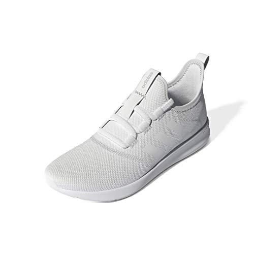 adidas Women's Cloudfoam Pure 2.0 Running Shoes, White/White/Grey, 9.5