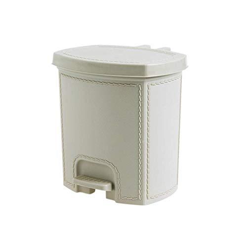 SMEJS Papelera de plástico con protección contra los olores de la tapa (color: A)