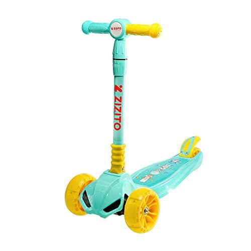 Roller Kinder 3 Jahre Led-Beleuchtung Musik Scooter Roller Kinder Spielzeug Mädchen Kinderroller ab 3 Jahre Geschenk Junge 3 Jahre Kinder Roller (Blue)