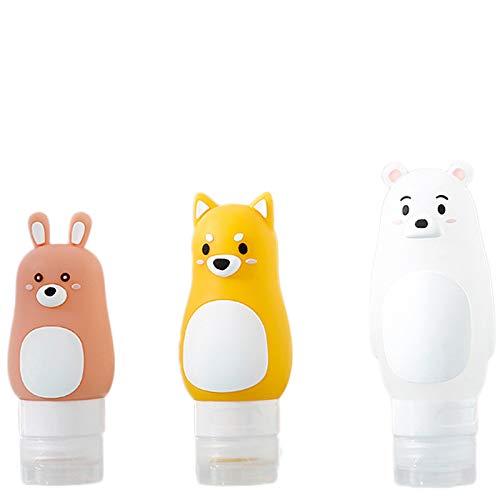 Reiseflasche, Silikonflasche Hautpflegeprodukte Tragbare Süße Lotion 3 Stück