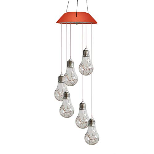 EUBEISAQI - Lámpara solar LED que cambia de color para colgar al aire libre, decoración romántica de viento para Navidad, patio, jardín, hogar, luz nocturna