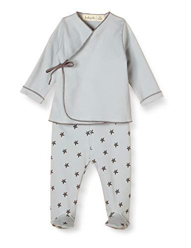 Babyclic Jubon + Polaina Litte Star Azul - Ropa Y Accesorios De Bebe