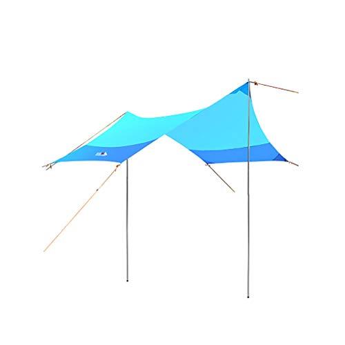 Zelte Strand-Zelt mit Sand Ankern Sonnensegel Vordach UV-Block for Terrasse und im Freien beweglichen Canopy Sunshade