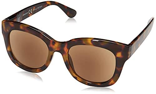 Peepers by PeeperSpecs Women's Center Stage Sun Oversized Sunglasses, Tortoise, 52 mm + 1.5