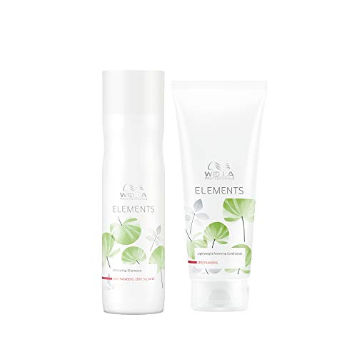 Wella Professionals Elements Sulfate Free Shampoo 250ml and Paraben Free Conditioner 200ml duo for Chemically Treated Hair